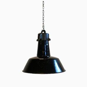 Vintage Black Enamel Pendant Lamp
