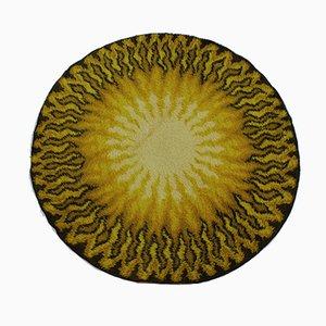 Vintage Danish Round Wool Rug