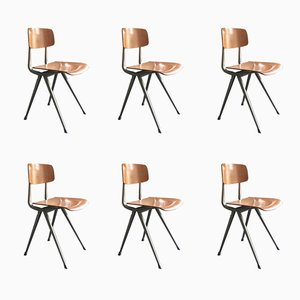 Result Chairs by Friso Kramer & Wim Rietveld for Ahrend De Cirkel, 1950s, Set of 6