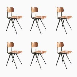Result Stühle von Friso Kramer & Wim Rietveld für Ahrend De Cirkel, 1950er, 6er Set