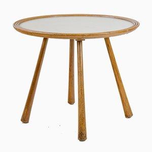 Tavolino in legno di betulla con ripiano laminato, anni '40
