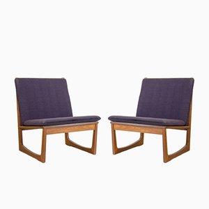 Modell 522 Lehnstühle aus Teak von Hans Olsen für Juul Kristiansen, 1950s, 2er Set
