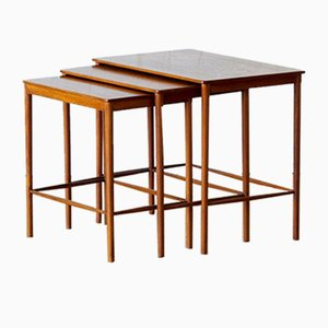 Scandinavian Teak Nesting Tables by Grete Jalk for P. Jeppesens Møbelsnedkeri, 1970s