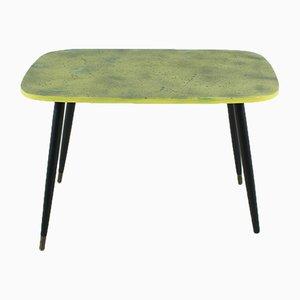 Tavolino da caffè nero e giallo, anni '50