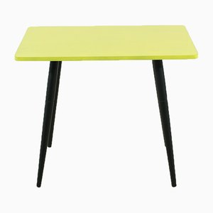 Small Side Table in Yellow, 1950s