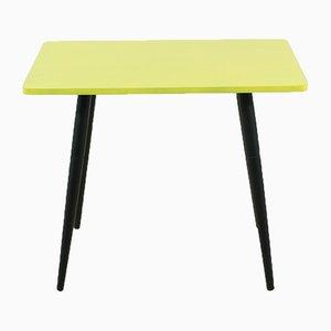 Tavolino piccolo giallo, anni '50
