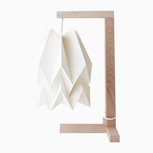 Lámpara de mesa en blanco polar de Orikomi