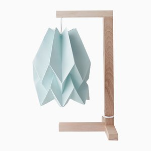 Mint Blue Table Lamp by Orikomi