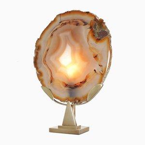 Lampada in agata di Willy Daro, anni '70