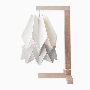 Tischlampe in Polar White mit Streifen in Light Grey von Orikomi