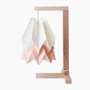 Tischlampe in Polar White mit Streifen in Pastel Pink von Orikomi