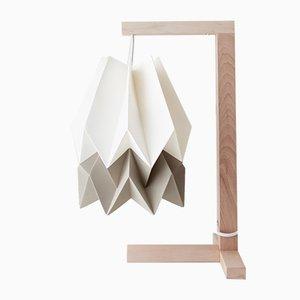 Tischlampe in Polar White mit Streifen in Light Taupe von Orikomi