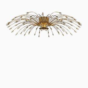Lámpara de araña de latón de Kalmar, años 50