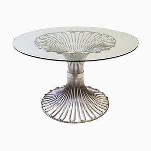 Glas Esstisch von Gastone Rinaldi für Rima, 1970er