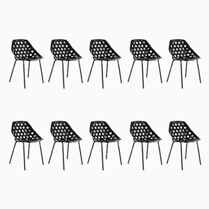 Coquille Chairs by Pierre Guariche for Meurop, Set of 10