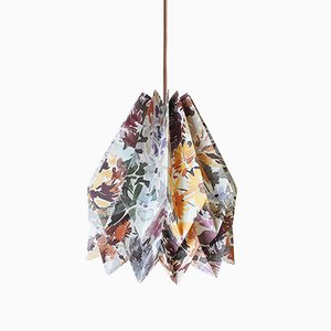 Lampada Sunflower origami gialla di Orikomi