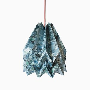 Sunflower Blue Origami Lamp by Orikomi