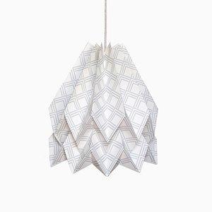 Kayapó hellgraue Origami Lampe von Orikomi
