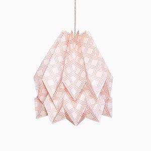 Kayapó Pastel Pink Origami Lamp by Orikomi