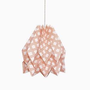 Lampada Origami Kayapò color terracotta di Orikomi