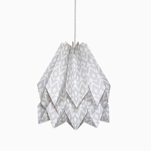 Tupi Light Grey Origami Lamp by Orikomi