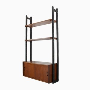 Mid-Century Teak Wall Unit from SimplaLux, 1950s