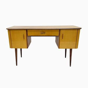Lacquered Wood Veneer Desk, 1960s