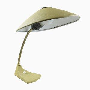 Lampe de Bureau à Col de Cygne Mid-Century Laqué Jaune