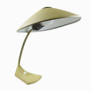 Mid-Century Yellow Lacquered Desk Lamp with Gooseneck