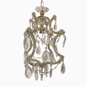 Lampe à Suspension Maria Teresa Vintage en Cristal