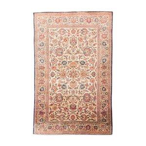 Alfombra de Oriente Medio de seda, década de 1900