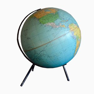 Vintage Tripod Globe from Georges Philip & Son, 1969