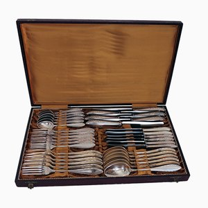 Silvered 44-Piece Cutlery Set from Berndorfer Metallwarenfabrik, 1950s