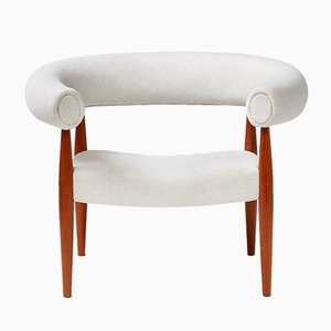 Vintage Danish Ring Armchair by Nanna & Jorgen Ditzel for Kolds Savvaerk