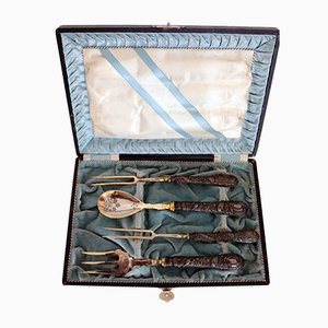 Antique Hunter's Cutlery Set in Original Box