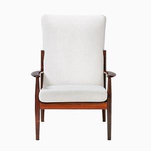 Vintage Sessel mit hoher Rückenlehne von Grete Jalk für France & Søn, 1960er
