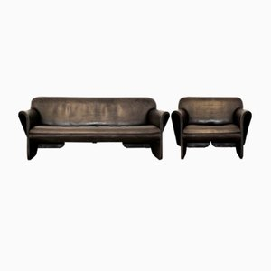 Vintage DS 125 Sofa and Armchair by Gerd Lange for de Sede, 1978