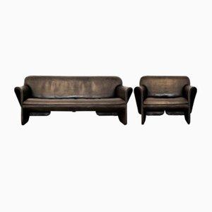 Vintage DS 125 Sofa und Sessel von Gerd Lange für de Sede, 1978