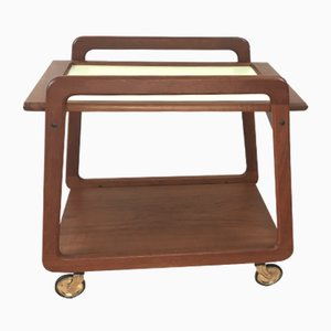 Mid-Century Danish Teak Serving Trolley from Sika Møbler, 1960s