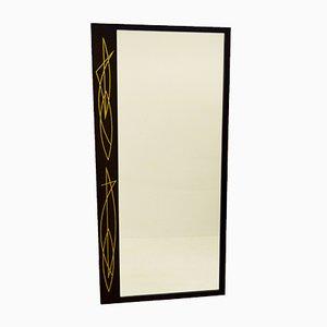 Spiegel mit Intarsien aus Zinn, 1950er