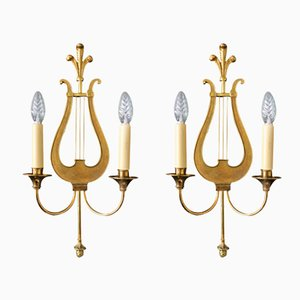 Neoclassical Wall Sconces from Maison Charles, 1950s, Set of 2