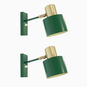 Lámparas de pared modelo Alfa Mid-Century de Jo Hammerborg para Fog & Mørup. Juego de 2
