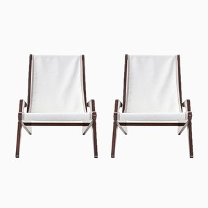 Boomerang Chairs by José Caldas for Moveis Artisticos, 1962, Set of 2