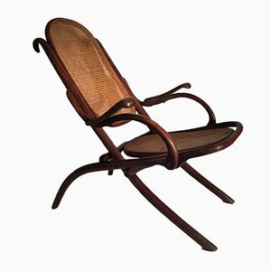 Vintage Bentwood Folding Armchair by Thonet