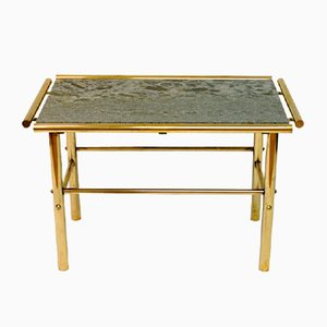 Table en Marbre et Laiton, 1960s