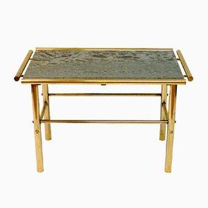 Tavolo in marmo e ottone, anni '60