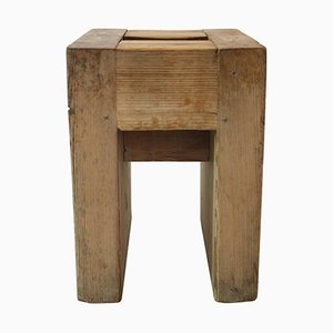 Wooden Stool by Jean Prouvé & Guy Rey-Millet, 1960s