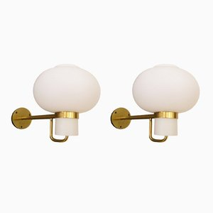 Wall Sconces by Bent Karlby for Lyfa, 1950s, Set of 2