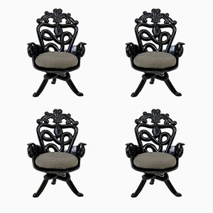 Surrealist Armchairs, 1950s, Set of 4