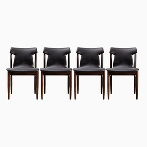 IK Rosewood Dining Chairs by Inger Klingenberg for Fristho, 1960, Set of 4